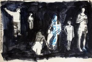 לורד וצבע על נייר עיתון