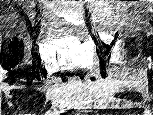 ברקנל סקאוט קאמפ, טימבון, פילטר גראפי על ציור קיטש.